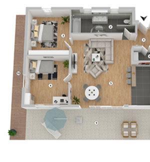 3D-Grundriss Produktbild Layout 1