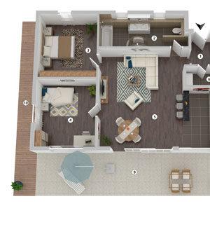 3D-Grundriss Produktbild Layout 2