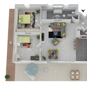3D-Grundriss Produktbild Layout 3