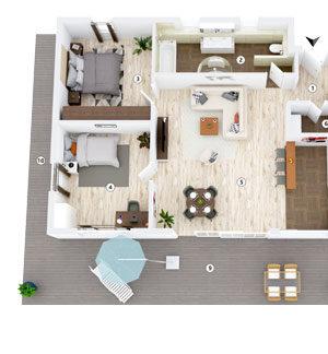3D-Grundriss Produktbild Layout 4